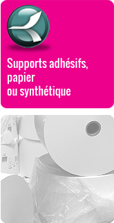 Supports adh�sifs papier ou synth�tique
