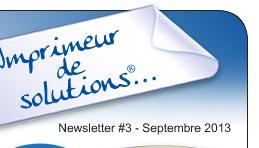 Newsletter N°3 - Septembre 2013